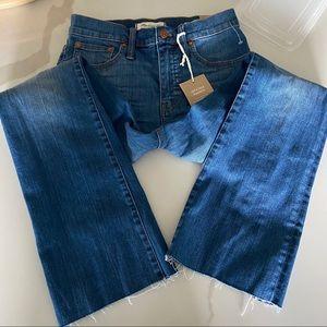 Madewell Cali Demi-Boot Jeans: Destructed Hem